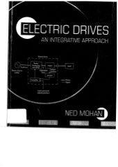 Electric drives [ned mohan 2001  (scanned) 470pág]