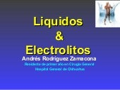 Electrolitos en cirugia general