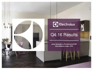 Electrolux consolidated results 2016 - Presentation