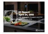 Electrolux Interim Report Q1 2015 - Presentation
