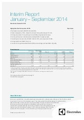 Electrolux Interim Report Q3 2014