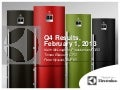 Electrolux Consolidated results 2012 Presentation