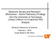 Electronic Access and Research Effi...