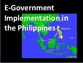 ICT Implementation in the Philippines