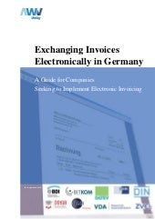Electronic invoices in germany awv ...