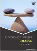 Electronic Platform Balance by ACMAS Technologies Pvt Ltd.