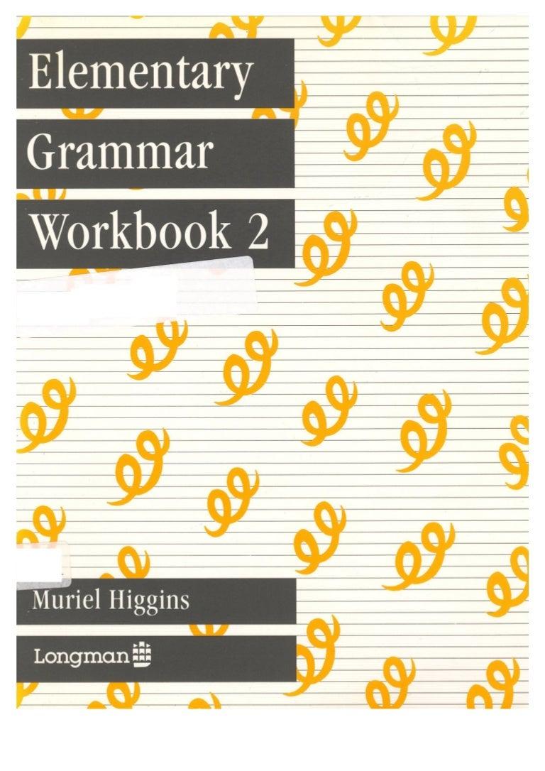 Worksheet Grammar For Elementary elementary grammar workbook 2