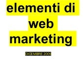 Elementi Di Web Marketing