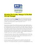 Elevating The Facility Manager To The Role Of Asset Manager