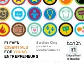 Eleven Essentials for Young Entrepreneurs