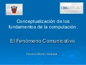 El fenomeno comunicativo