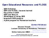 """OER Open Educational Resources and..."