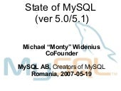 """Advanced MySQL 5 Tuning"" by Michae..."