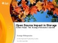 """The Open Source effect in the Storage world"" by George Mitropoulos @ eLiberatica 2009"