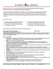 Elisabeth Windfeld Resume