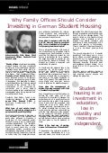 Why Family Offices Should Consider Investing in German Student Housing