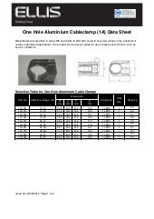 Ellis Patents 1 Hole Cable Cleat Aluminium - Spec  Sheet
