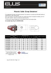 Ellis Patents Phoenix Cable Cleats - Spec Sheet