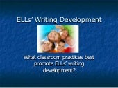 ELLs' Writing Development