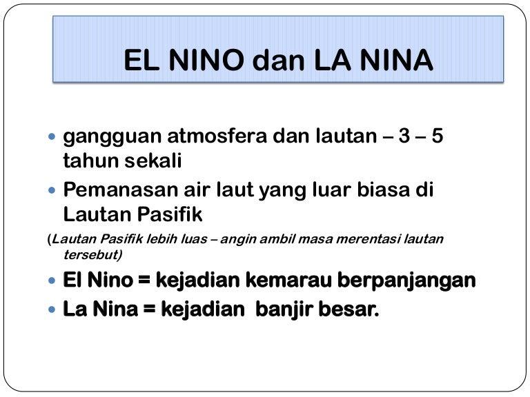Apa Itu Fenomena El -Nino