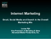 Internet Marketing -Email, Social M...