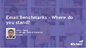 Email Benchmarks - Where do you stand?