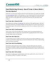 Email marketing glossary: email ter...