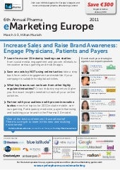 Eye For Pharma eMarketing Europe 2011