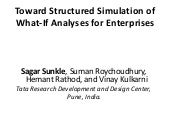 Toward Structured Simulation of What-If Analyses for Enterprise
