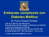 Embarazo complicado con diabetes me...