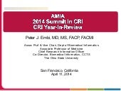 Clinical Research Informatics (CRI)...