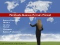 Worldwide Business Opportunity (Business Partners Wanted)