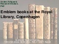 Emblem books at the royal library copenhagen