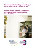 Executive Coaching Report - IBC and EMCC