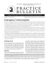 Emergency contraception may 2010