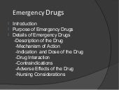 Emergency drugs in nephrology ward