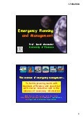 Emergency planning and mgt