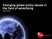 Emerging global policy issues in th...