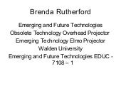 Emerging technology multimedia pres...