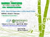 Emerging Value Summit April 2013. R...