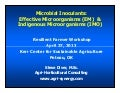 Microbial Inoculants: Effective Microorganisms (EM) & Indigenous Microorganisms (IMO)