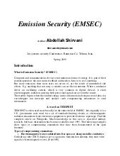 Emission security- Tempest Attacks
