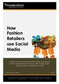eModeration white paper: how fashion retailers use social media
