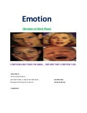 Project Report On Emotion At Work P...