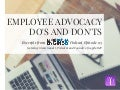 Employee Advocacy Do's and Don'ts