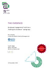 Employee engagement  the-evidence