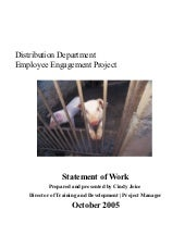 Employee engagement project stateme...
