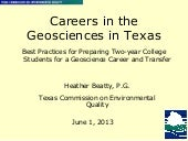 Careers in the Geosciences in Texas