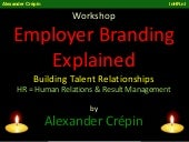 Employer Branding Workshop, buildin...