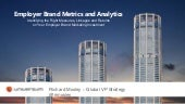 Employer Brand Metrics and Analytics